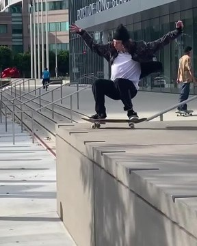 Guy Jumps Off Platform While Skateboarding And Hits Steel Pillar