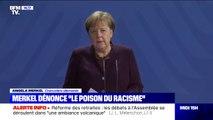 """Fusillades en Allemagne: Angela Merkel dénonce """"le poison du racisme"""""""