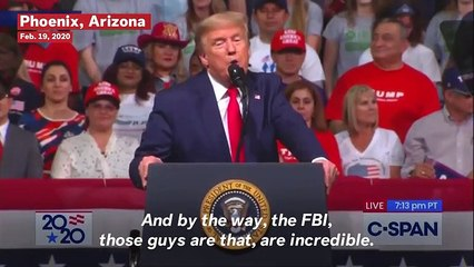 Trump Says FBI Were 'Dirty Cops' Over Mueller Investigation During Arizona Rally