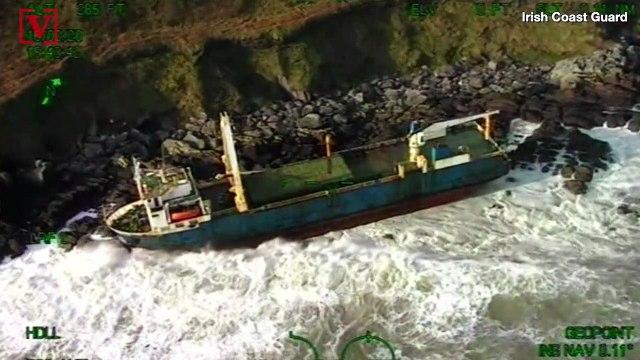 'Ghost Ship' Runs Aground on Coast of Ireland