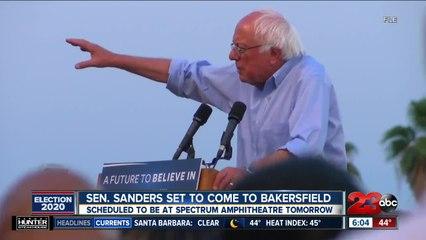 Senator Bernie Sanders to come to Bakersfield