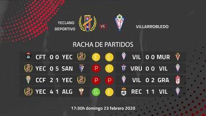 Previa partido entre Yeclano Deportivo y Villarrobledo Jornada 26 Segunda División B