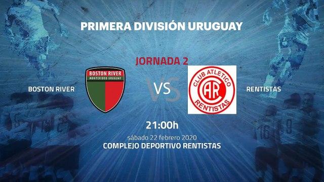 Previa partido entre Boston River y Rentistas Jornada 2 Apertura Uruguay
