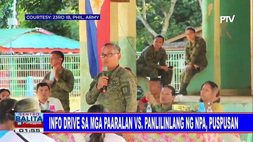 Info drive sa mga paaralan vs. panlilinlang ng NPA, puspusan