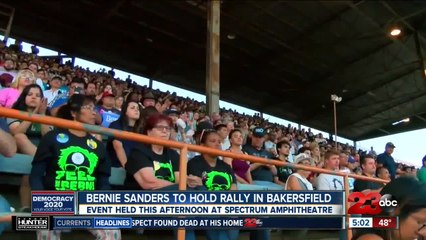Bernie Sanders will visit Bakersfield this afternoon