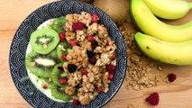 Recette : Smoothie bowl au kiwi, lait de coco et céréales
