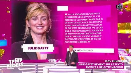 Julie Gayet revient sur le texto envoyé à Brigitte Macron