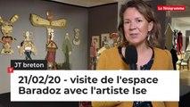 JT Breton du vendredi 21 février 2020. visite de l'espace Baradoz avec l'artiste Ise