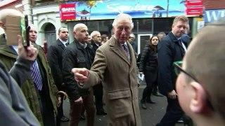Prince Charles visits flood affected residents of Pontypridd