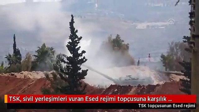 TSK, sivil yerleşimleri vuran Esed rejimi topçusuna karşılık veriyor