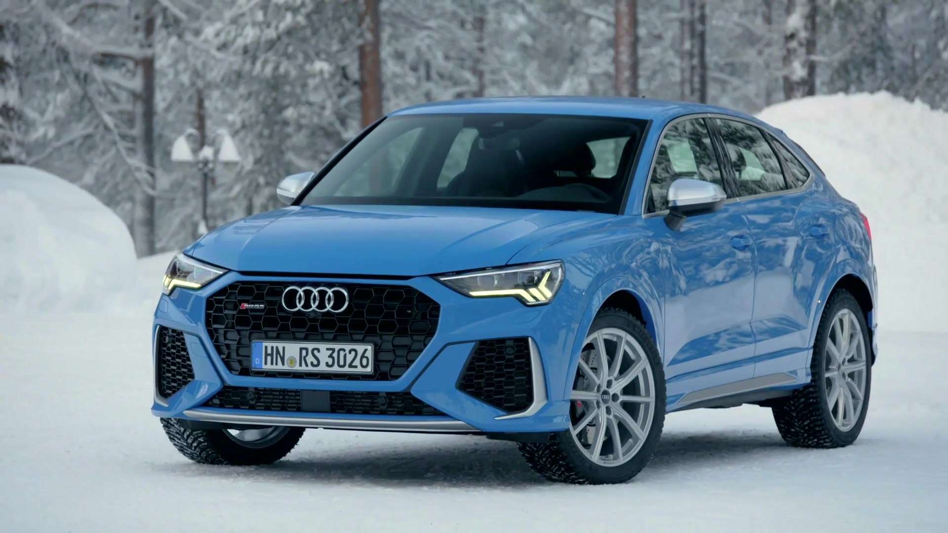 Audi Rs Q3 Sportback Exterior Design In Turbo Blue Video Dailymotion