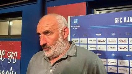 J23 - la réaction du coach François Ciccolini après la réception de l'USL Dunkerque (0-2)