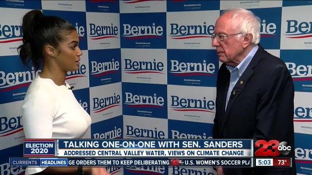 Talking one on one with Sen. Sanders in Bakersfield