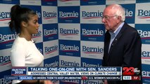 Talking one on one with Sen. Sanders in Bakersfield