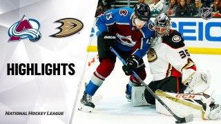 Anaheim Ducks vs. Colorado Avalanche - Game Highlights