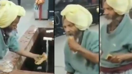 Viral Video Shows Us The Value Of Food And Not Waste It...!!