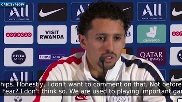 Marquinhos s'agace après une question sur la peur du PSG en Ligue des Champions