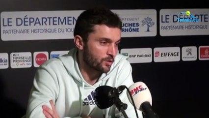 """ATP - Marseille 2020 - Gilles Simon : """"Félix Auger-Aliassime ? Il fait l'effort et il est courageux"""""""