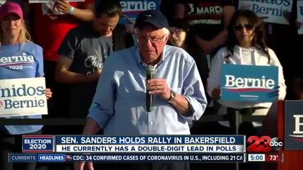 Sen. Sanders Holds Rally In Town