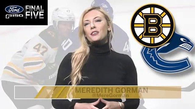 Ford Final Five: Canucks Crush Bruins in 9-3 Win
