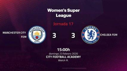 Resumen partido entre Manchester City Fem y Chelsea Fem Jornada 17 Premier League Femenina