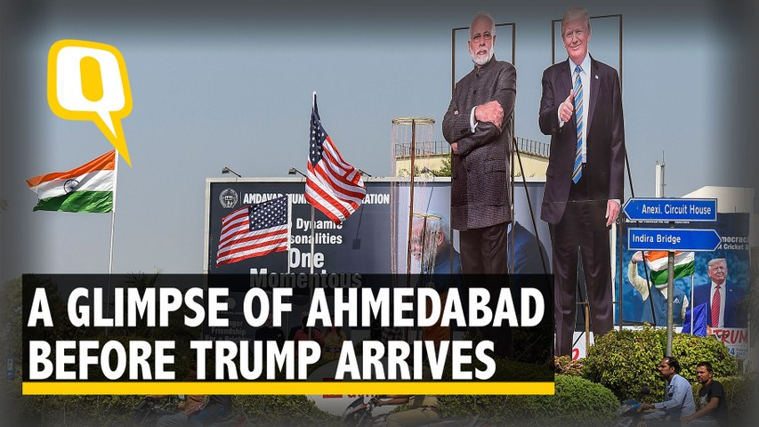 Here's What Ahmedabad Looks Like Ahead of Trump's Visit
