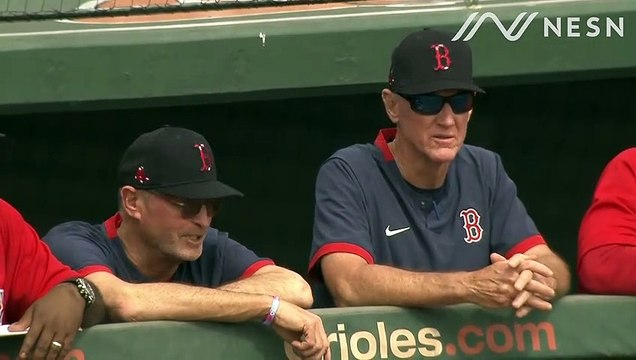 Ron Roenicke and Jerry Narron Coaching In Spring Training Game