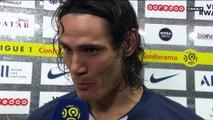 L'émotion d'Edinson Cavani après son 200ème but avec le PSG