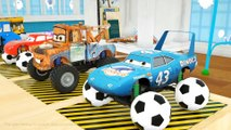 Learn Shapes with Cars Mcqueen, Monster Truck, Spec Mack Truck, Parking Vehilce