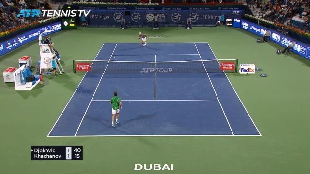 Dubaï - Djokovic expéditif face à Khachanov !