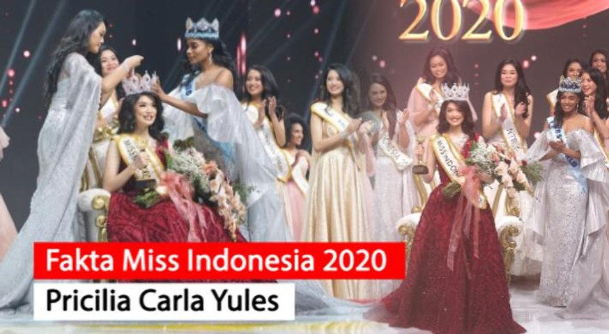 5 Fakta Menarik Miss Indonesia 2020 Pricilia Carla Yules