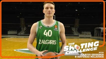 Shooting Challenge: Marius Grigonis & Arturas Milaknis, Zalgiris Kaunas