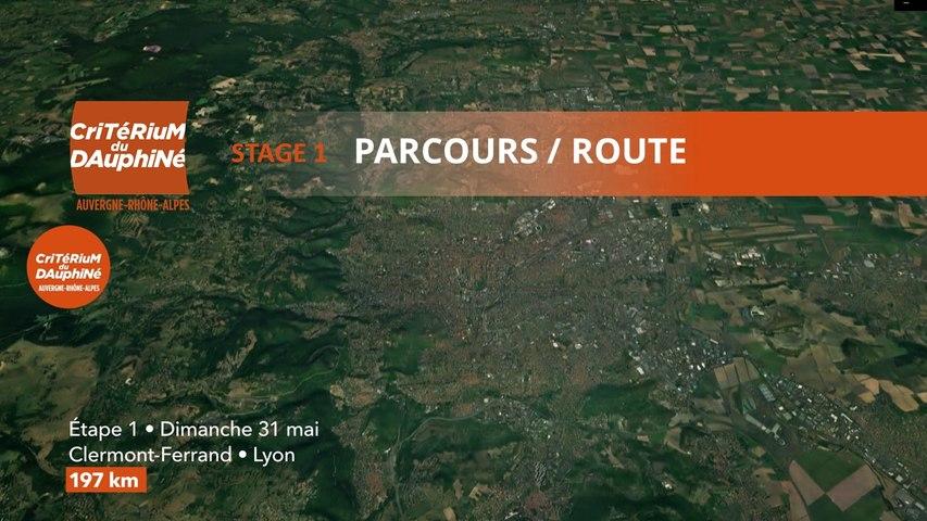 Parcours /Route - Étape 1/Stage 1 : Critérium du Dauphiné 2020