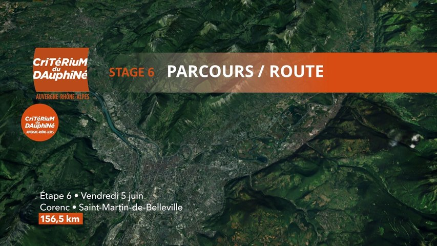 Parcours /Route - Étape 6/Stage 6 : Critérium du Dauphiné 2020