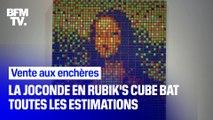 La Joconde en Rubik's cube a vu son prix flamber aux enchères ce week-end