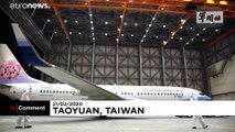 Taiwan military disinfects plane carrying coronavirus ship evacuees
