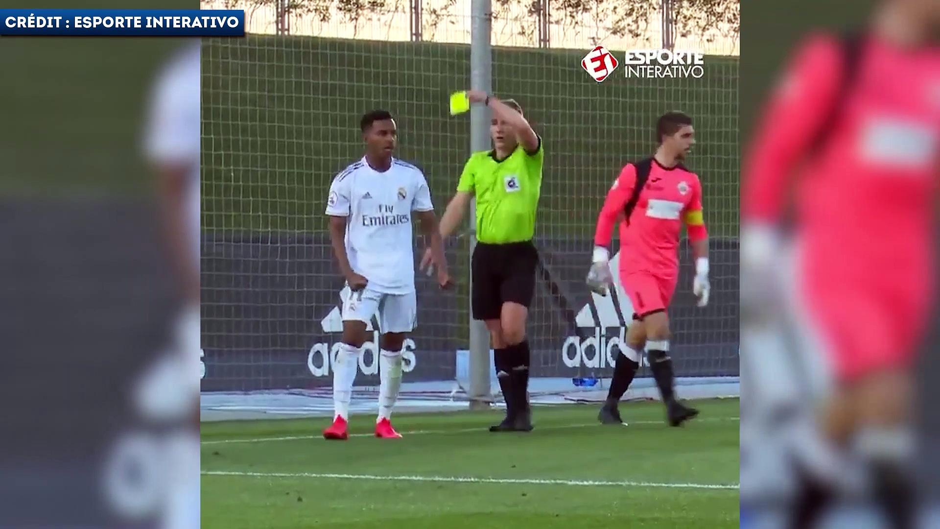 L'expulsion bête de Rodrygo avec le Real Madrid Castilla