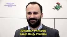 Hockey sur glace Interview de Jonathan Paredes, Coach des Jokers de Cergy-Pontoise, 22/02/2020 (D1 – J25 Clermont-Ferrand VS Cergy-Pontoise)