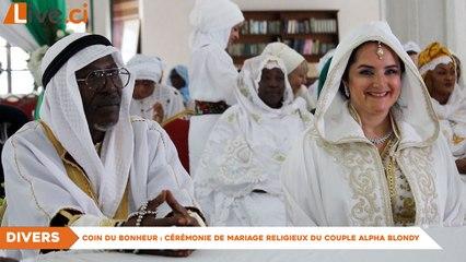 Coin du bonheur : Cérémonie de mariage religieux du couple Alpha Blondy