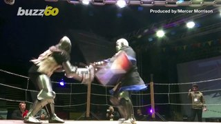 Sword Fight! Medieval-Fighting Enthusiasts Don Armor to Compete in Russian Knockout Tournament