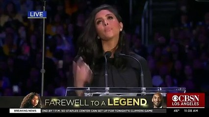 Vanessa Bryant Remembers Husband Kobe And Daughter Gianna In Tearful Speech At Memorial