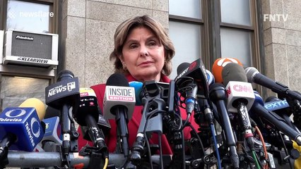 Harvey Weinstein's lawyer clashes with Gloria Allred after the trial in New York