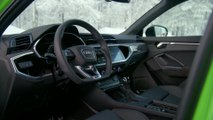 The new Audi RS Q3 Interior Design in Kyalami Green