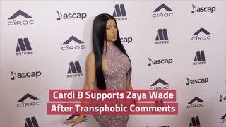 Cardi B Comes To Zaya Wade's Defense