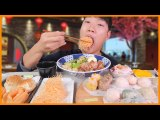 (Eng Sub) Chewy, Crispy Dim Sum Dumplings And Taiwanese Braised Pork Rice Bowl Real Sound MUKBANG!