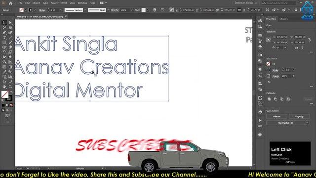 New strokes Adobe Illustrator Training - Class 14 - All About Strokes Urdu /Hindi |@Aanav Creations @Technical Maanav