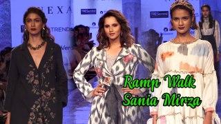 Sania Mirza LOOKS Georgeous Walks The Ramp At Lakme Fashion Week 2020