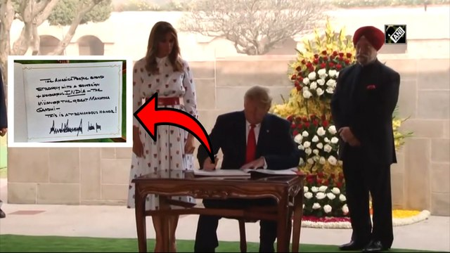 Trump's message in the visitor's book at Raj Ghat | நேற்று இல்லை.. இன்று காந்தியை குறிப்பிட்ட டிரம்ப்