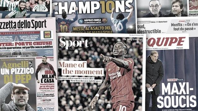 L'appel du pied de la Juve pour Guardiola, Sadio Mané fait les gros titres en Angleterre