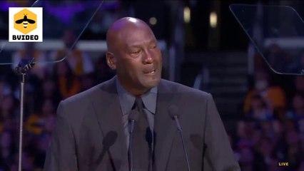 Michael Jordan Cries at Kobe Bryant Memorial